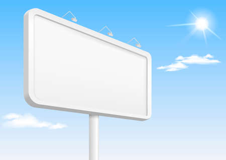 Template city banner or billboard with illumination for advertising.