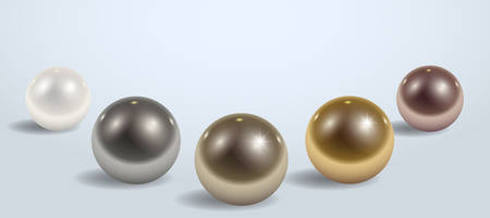Composition of different metal or plastic balls on the plane
