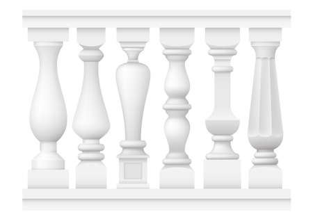 A set of different classical balusters. Silhouette pattern in vector graphic