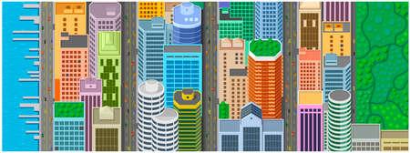 Set of building illustration. Illustration