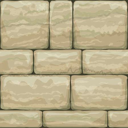 Naadloze textuur van oude steen. Breccia. Klassiek vintage metselwerk van de gevel. Vectorafbeeldingen