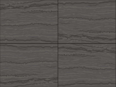 Seamless texture of gray marble tiles. Wall of limestone. A natural stone. Vector graphics.  イラスト・ベクター素材