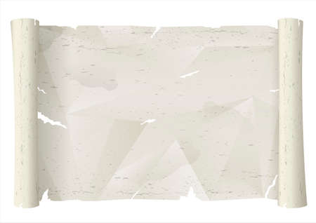 Old scroll sheet of crumpled torn paper. A decorative background. Vector graphics Illustration