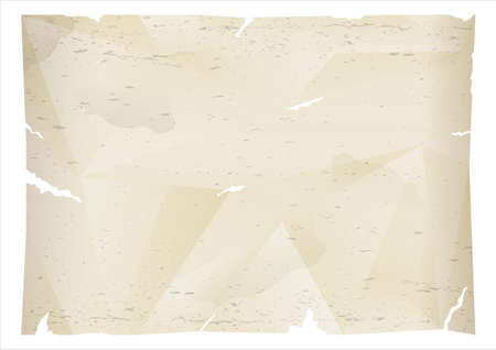 An old piece of crumpled torn paper. A decorative background. Vector graphics