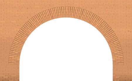 Old wide brick facade facade in Loft style. Bridge or interior. Background or texture. Window door or entrance Banco de Imagens - 114424048