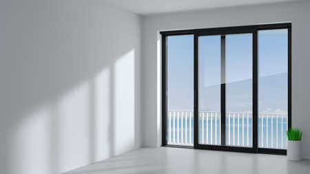 Black sliding door in the room