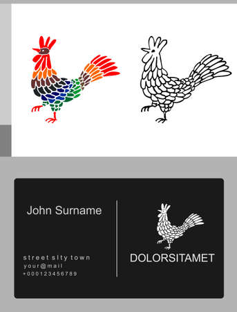 Emblem icon french rooster Emblem icon french rooster