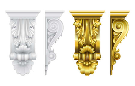 Classic frontal bracket gold and stone set