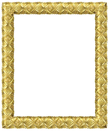 Vector graphics. Golden classic baroque frame. Framing the window or picture. Decor