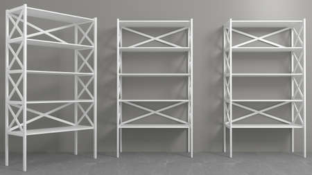 Rack with shelves showcase or wardrobe 写真素材