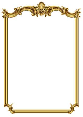 Goldener klassischer Rahmen des Rokoko-Barock
