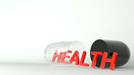 3d illustration. Health tablet medical metaphor concept. Banque d'images