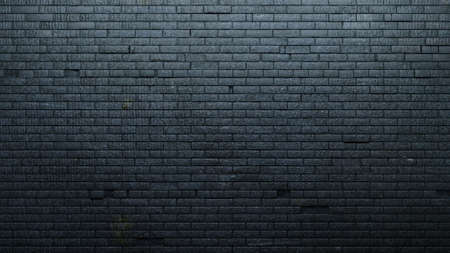 3d illustration. Background with an old black brick wall. Interior in loft style.
