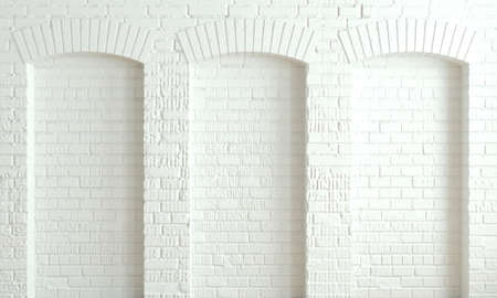 3d illustration. Arched wall background in the loft style. Banque d'images