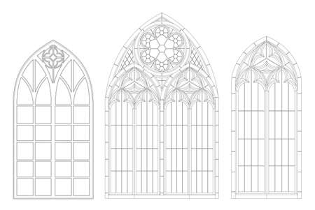 Medieval Gothic contour window Medieval Gothic contour window