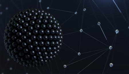 Banner abstraction super virus molecule background structure
