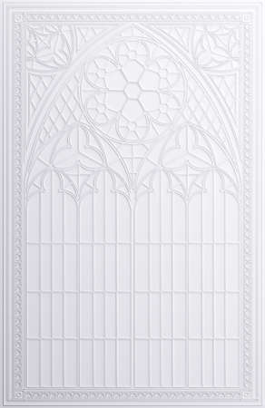 Classic wall of white arch gothic panels