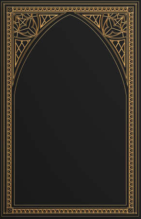 Classic wall of gold arch gothic panels