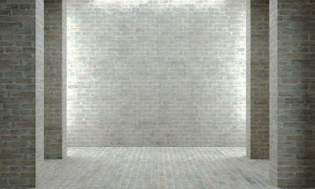 Gray wall concrete or brick industrial construction