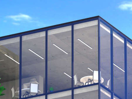 Mockup 3d design of office building