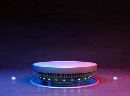 Futuristic stand or podium background