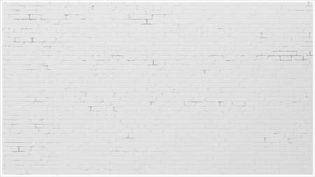 Background with an old white brick wall. Interior in loft style. Vector graphics