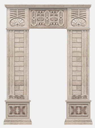 Stone ancient arch in Egyptian style entrance Vettoriali