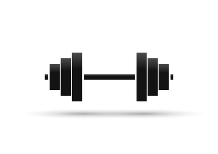 Dumbbell icon, sign design template, vector illustration