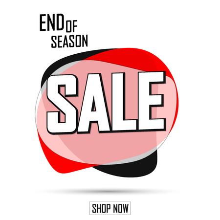 Sale bubble banner design template, discount tag, limited edition, app icon, vector illustration Ilustração