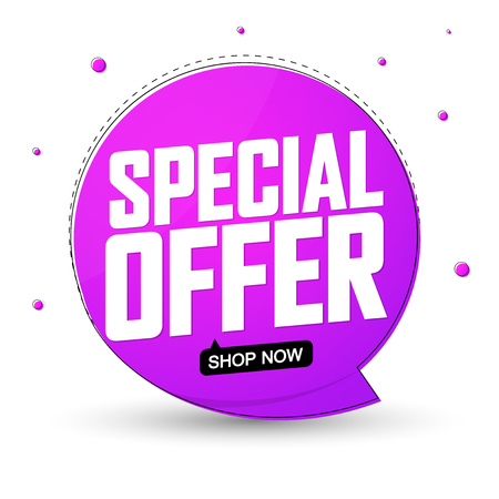 Special offer, discount icon, app icon, vector illustration