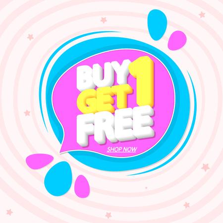 Buy 1 Get 1 Free Vectores