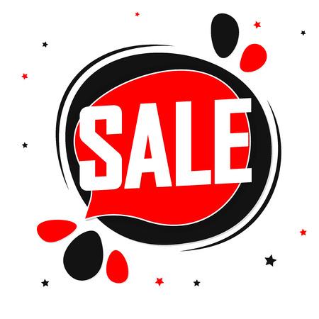 Sale speech bubble banner design template, discount tag, app icon, vector illustration Illustration