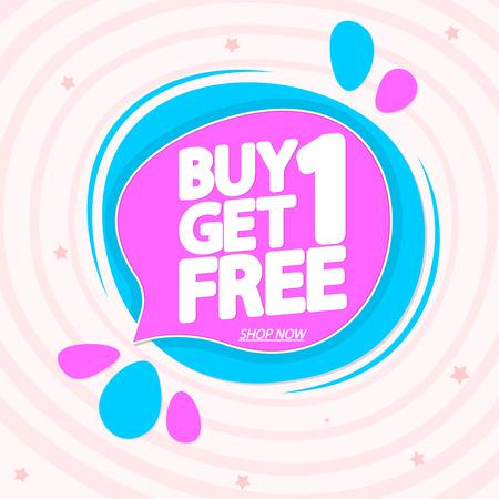 Buy 1 Get 1 Free Illustration