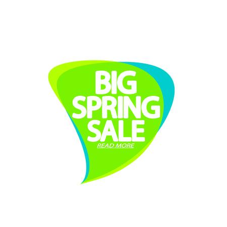 Big Spring Sale Illustration