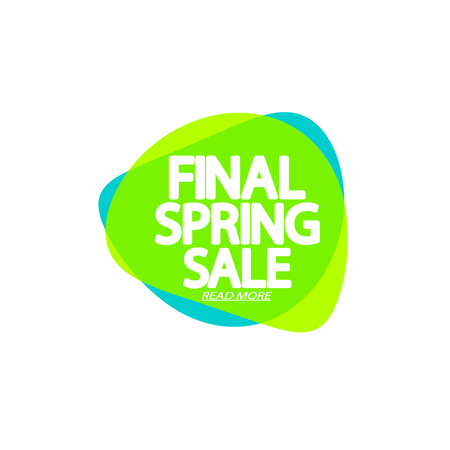 Final Spring Sale, bubble banner design, app icon