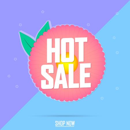 Hot sale, Spring promotion banner design template, discount tag, vector illustration