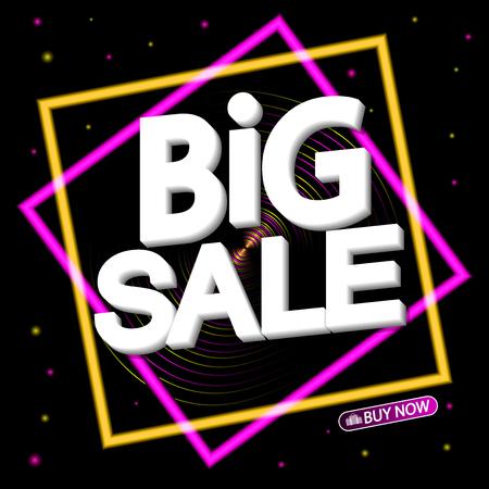 Big Sale, poster design template, vector illustration Ilustração