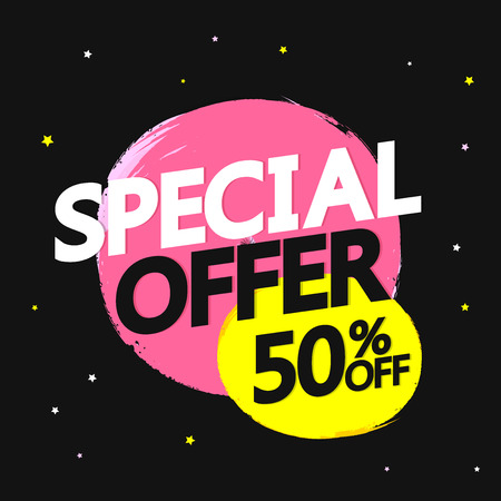 50% off, discount tag, app icon, vector illustration