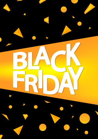 Black Friday, sale poster design template, vector illustration 向量圖像