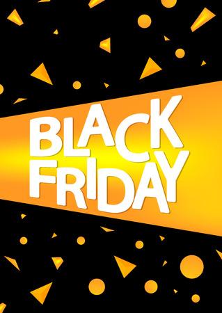 Black Friday, sale poster design template, vector illustration Illustration