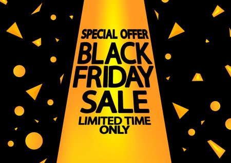 Black Friday Sale, poster design template, special offer, vector illustration