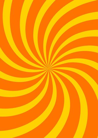 Yellow swirl background, poster design template, vector illustration