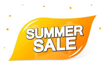 Summer Sale, banner design template, discount tag, app icon, vector illustration