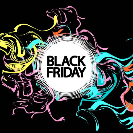 Black Friday, Sale poster design template, final offer, vector illustration Stock fotó - 129514783