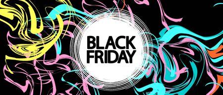 Black Friday, Sale poster design template, final offer, vector illustration Stock fotó - 129514787