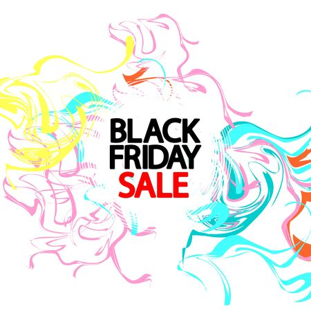 Black Friday Sale, poster design template, mega offer, vector illustration Stock fotó - 129514784