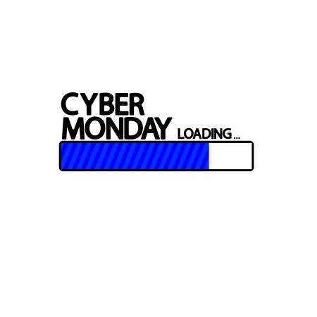 Cyber Monday Sale, progress loading bar design template, vector illustration Stock fotó - 129514807