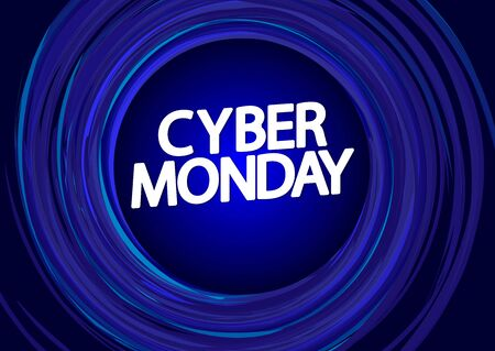 Cyber Monday Sale, poster design template, special offer, vector illustration Иллюстрация