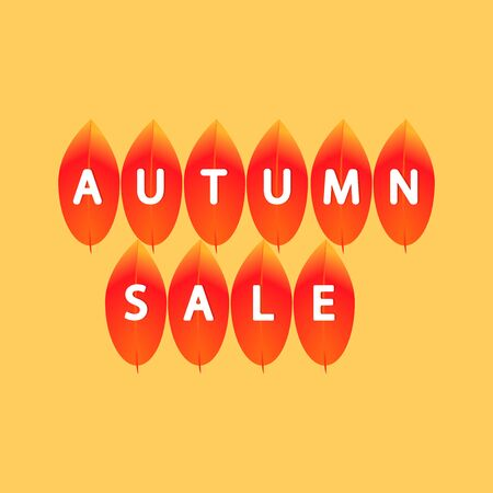 Autumn Sale, poster design template, Fall offer, vector illustration Stock fotó - 129514828