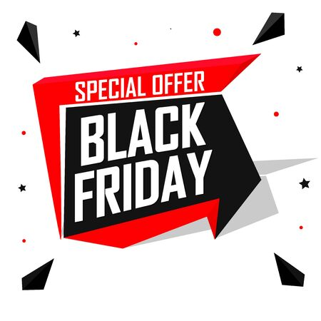 Black Friday, Sale speech bubble banner design template, special offer, mega discount tag, app icon, vector art and illustration